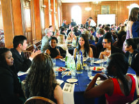 Seniors celebrate their impending graduation at the tenth  Alumni Transition Dinner.