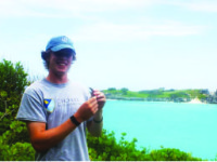Dylan Muldoon '17 spent the summer in Bermuda for his research, titled, 'Populations and Polymorphisms: A New Look at the Bermuda Skink'.