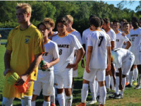 Boys' Varsity Soccer prepares to take on the Blue-and-Grey.