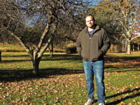 The 140-acre Paddock Farm produces a lush harvest of apples each year, and Mr. Erik Freeman hopes to maintain the orchards and flowerbeds.