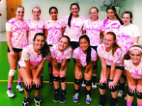 The Boars help raise money for breast cancer research through their charity Dig Pink match against Loomis.