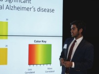 Jaiveer Khanna '17 discusses RNA binding proteins involved in Alzheimer's disease.