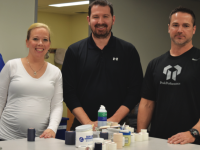 From left to right: athletic trainers Ms. Emily Osterhout, Mr. Matt Pendleton, and Mr. Brain Holloway.