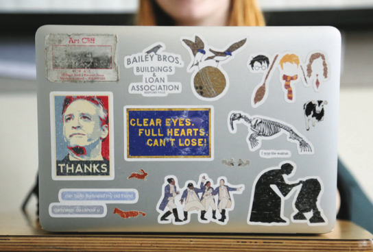 What Do Our Computer Stickers Say About Us?
