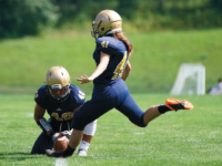 Last weekend, Taylor Christiana '18 became the first female to compete in a Choate football game.