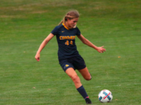 Sam Brown '20 during Choate's 1-1 draw against The Lawrenceville School last Saturday.