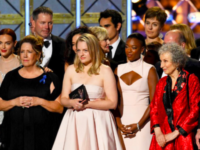 "This year, many Emmy Awards went to shows that revolve around women, like ""The Handmaid's Tale."""