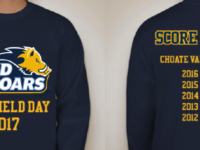 The winning Deerfield Day T-shirt design (above) was voted on by the student body.