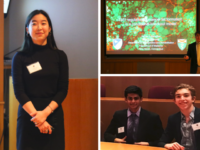 SRP students give their final presentations after months of research at professional laboratories.