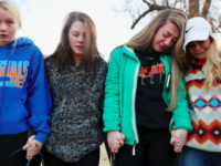 Students participate in a vigil In Benton, Kentucky, on January 23.