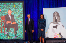 Former President Barack and First Lady Michelle Obama unveil their new portraits on February 12 at the National Portrait Gallery in Washington, D.C.