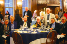Alumni reunite in the dining hall during Choate's 2017 Reunion Weekend last spring.